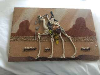 Saharan sand picture made of deserte sands