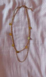 Gold Coin Layered Necklace