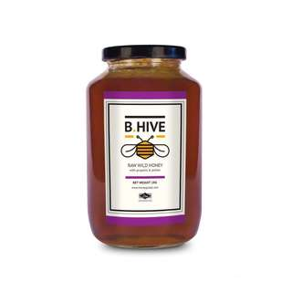 B.Hive Raw Wild Honey 1 kg (with propolis & pollen)