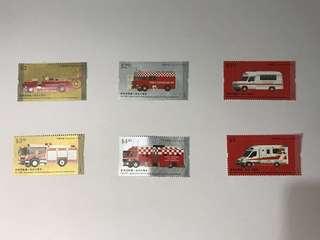 消防處150周年郵票一套