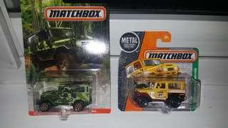 Matchbox landcruiser set