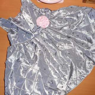 Gray baby girl's gown