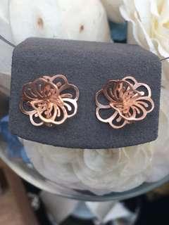 純銀泰國製立體花形耳環