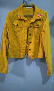 Mustard denim jacket