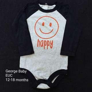 12-18M George Baby Onesie (Long Sleeves)