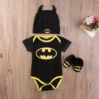 Baby Romper Batman Set