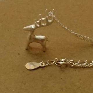 Silver Reindeer Necklace