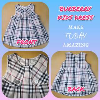 PRELOVED BURBERRY KIDS DRESS * AUTHENTIC QUALITY *
