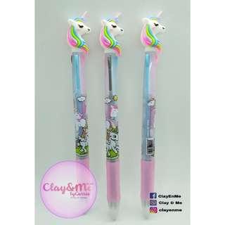 Retractable Unicorn Bright  gel pen