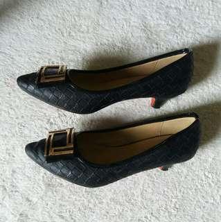 Mario D Boro Black Shoes