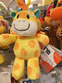 Mothercare giraffe toy+rattle+teether