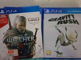 PS4 Games Witcher 3 Gravity Rush