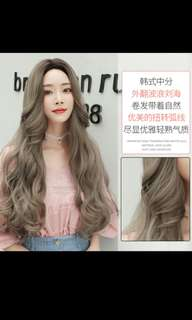 Best selling! Preorder Korean wavy curly centre parting wig * waiting time 15 days after payment is made *chat to buy to order