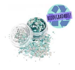Aztec silver biodegradable glitter