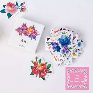 45pcs Fresh Flowers Sticker Pack