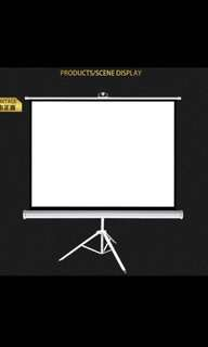 Brand new projector screen with tripod up to 100inch LIMITED STOCKS