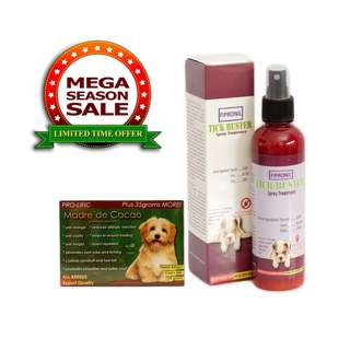 Tick Buster Fipronil Spray Treatment 200mL and mdc organic soap