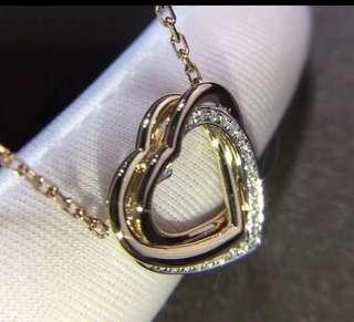 cartier 同款 925純銀 愛心 頸鏈