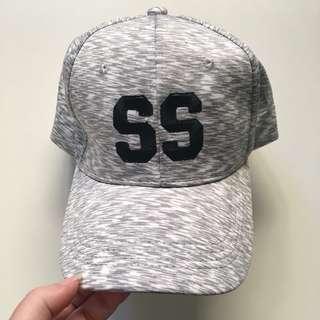 Grey & White Hat