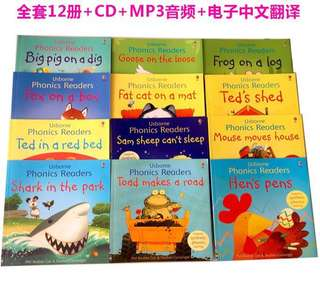 🚚 Usborne Phonics 12 books
