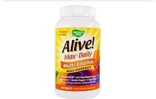 Nature's way Alive multivitamins