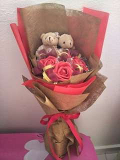 Express flower rose bear (artificial)