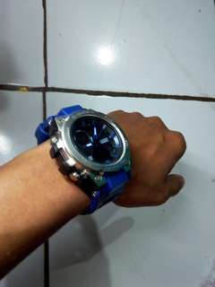 Jam tangan casio gshock sporty blue