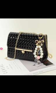 $15.90 INSTOCKS (Brand new in packaging) PVC Shoulder bag with charm!