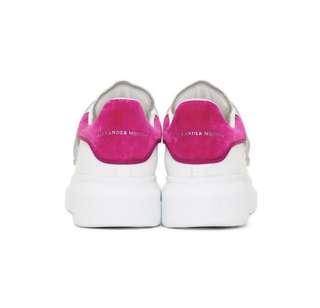 原裝正版包郵配原裝鞋袋 桃紅色 Alexander McQueen Sneaker special limited 由美國郵寄到你家 免郵費