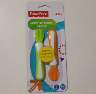 Fisher price learn to scoop Feeding Spoon for baby / toddler - BNIB