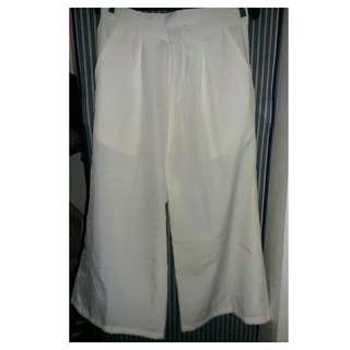 White Collutes Pants