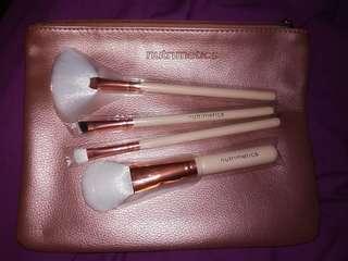Rosegold makeup bag and brushes