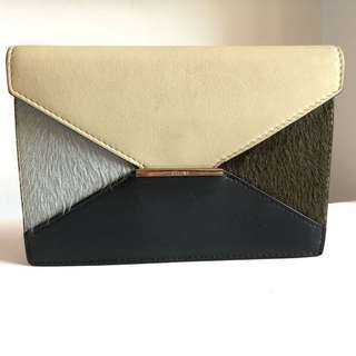 CELINE Wallet (Blue n green horse hair)
