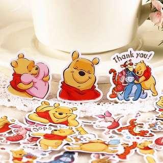 Pooh bear deco stickers