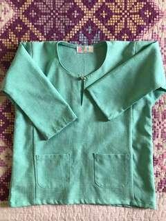 Light green baju melayu