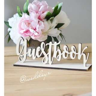 Wedding Table Customised Wooden Signage Guestbook Table Sign Hashtag