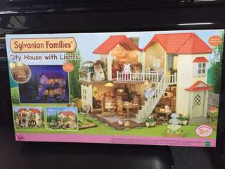 Sylvanian Families city house with lights