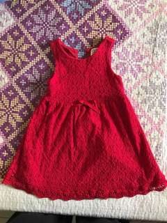Padini Authentic red lace dress