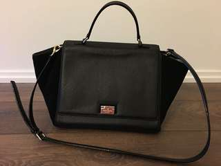 Kate Spade Black Leather/Suede Purse
