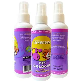 Pet Cologne with Moisturizer for Dogs and Cats (Lavender)