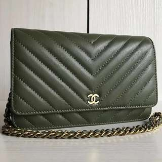Chanel Cruise SS18 Chevron Leather WOC (Just look at the price without looking at quality.Please bypass,Tq)