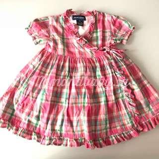 Authentic RL rare plaid wrap dress