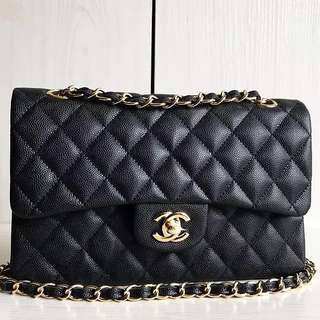 Chanel Classic Caviar cf2.55 Double Flap Bag (Just look at the price without looking at quality.Please bypass,Tq)