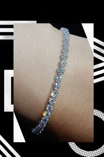 18K白金鑽石手鏈
