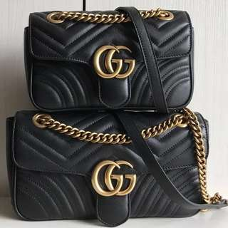 Gucci GG Marmont 22/26 Shoulder Bag (Just look at the price without looking at quality.Please bypass,Tq)