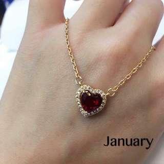 Birthstone Necklace [ jan-oct ]