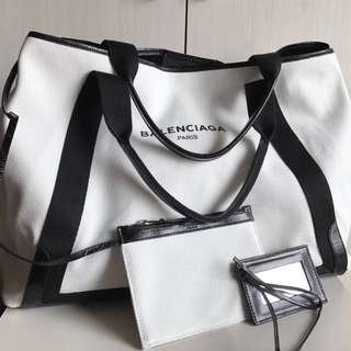 Balenciaga Navy Cabas (Just look at the price without looking at quality.Please bypass,Tq)