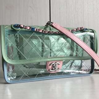Chanel SS18 Classic Transparent Flap (Just look at the price without looking at quality.Please bypass,Tq)