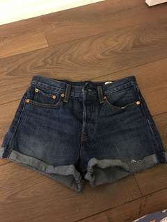 Levi's Wedgie High Waist Jean Shorts Size 27