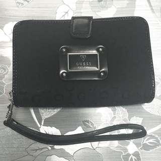 Black Guess Canvas Wallet